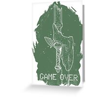 Game Over Link Greeting Card