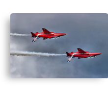 The Red Arrows Mirror Pass - Dunsfold 2014 Canvas Print