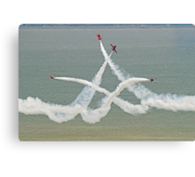 The Red Arrows - Opposition Barrel Roll - Eastbourne 2014 Canvas Print