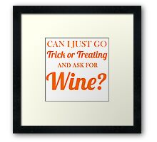 trick or treating wine Framed Print