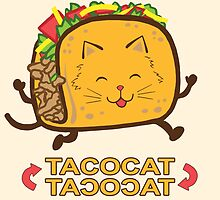 Taco Cat (Cream) by kirbeekatz