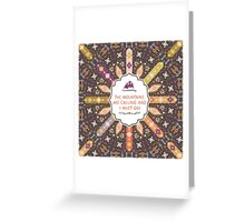 Vector colorful decorative element on native ethnic style Greeting Card