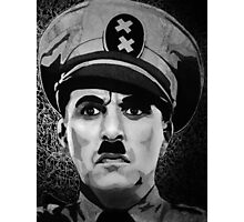 The Great Dictator Charles Chaplin black and white  Photographic Print
