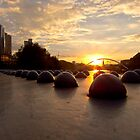 Riveting Southbank Sunrise by Norman Repacholi