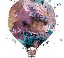 Hot Air Balloon 2 by Watercolorsart