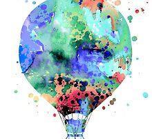 Hot Air Balloon 3 by Watercolorsart