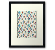 Floating Gems - a pattern of painted polygonal shapes Framed Print