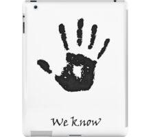 "Skyrim: Dark-brotherhood ""we know"" T-shirt iPad Case/Skin"