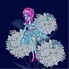 Enigmatic Flower Fairy Blue Art by LeahG by LeahG Artist