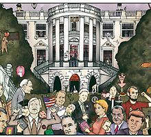 Us presidents at the white house by matan kohn