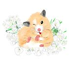 Funny Furry Golden Syrian Hamster by LeahG by LeahG Artist