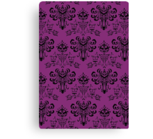 Haunted Mansion Pink Wallpaper Canvas Print