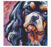 cavalier king charles spaniel Dog Bright colorful pop dog art T-Shirt