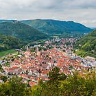 Bad Urach, view of the town centre from the Grafensteige hill by Mark Bangert