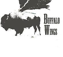 Buffalo Wings T-shirt by jimmy-rage