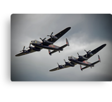 The 2 Lancasters - Tail Chase - Dunsfold 2014 Canvas Print