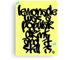"""Lemonade was a popular drink"" Canvas Print"