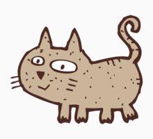 Funny cute cartoon cat Kids Clothes