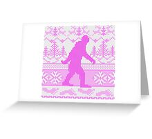 Gone Squatchin Ugly Christmas Sweater Knit Style Greeting Card