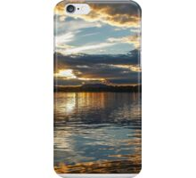Sunset over Brome Lake, Quebec, Canada  iPhone Case/Skin