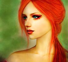 Girl with red hair by mariafumada