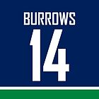 Vancouver Canucks Alex Burrows Jersey Back Phone Case by Russ Jericho