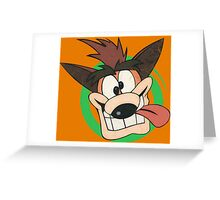 Crash Bandicoot - Classic PlayStation Greeting Card