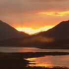 When the Sun Sets over Loch Leven by Charles  Staig