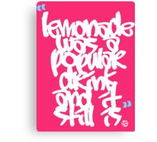 Lemonade was a popular drink Canvas Print