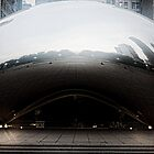 Cloud Gate in the morning fog by Karen Stevens