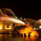 Night at Buckingham Fountain by Karen Stevens