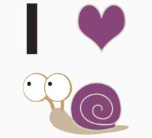 I heart snails - pink Kids Clothes
