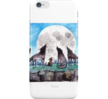 A Cat Raised by Wolves - by Mary Doodles iPhone Case/Skin