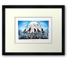 A Cat Raised by Wolves - by Mary Doodles Framed Print