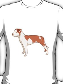 Staffordshire Terrier (red and white) T-Shirt