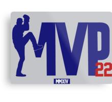 """Clayton Kershaw """"MVP"""" Metal Print"""