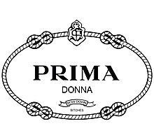 Prima Donna,bow down bitches - Prada Parody Photographic Print