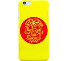 Day of the Dead Skull - Red and Yellow iPhone Case/Skin