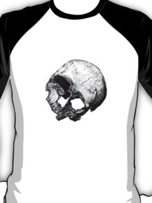 Human Skull Vintage Illustration T-Shirt