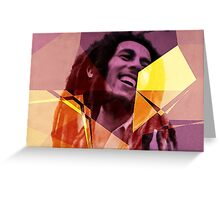 Vector Bob Marley Greeting Card
