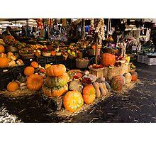 Italian Thanksgiving Harvest at Campo de Fiori in Rome, Italy Photographic Print