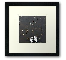 Converse and autumn leaves Framed Print