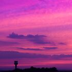 Purple skies over Liverpool Airport by Paul Madden