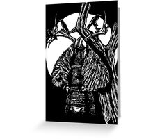 Crow Knight Greeting Card
