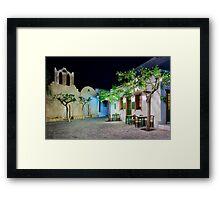 Have a seat in Folegandros Framed Print