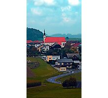 Village skyline on a cloudy day | landscape photography Photographic Print