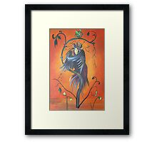 Gamaun The Prophetic Bird With Ruffled Feathers Framed Print