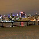 Manhattan From Pier A Hoboken by pmarella