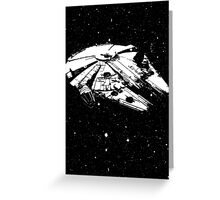 My-lennium Falcon Greeting Card