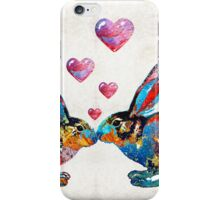 Bunny Rabbit Art - Hopped Up On Love - By Sharon Cummings iPhone Case/Skin